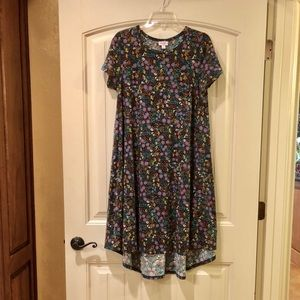 GUC Blue Fall Floral Print Carly Dress Size Small